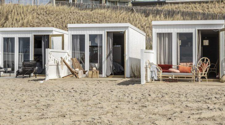 Slapen in een vtwonen strandkamer in Zandvoort